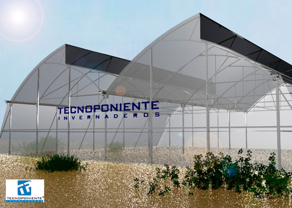 Tropical greenhouses - Tecnoponiente - Manufacture and